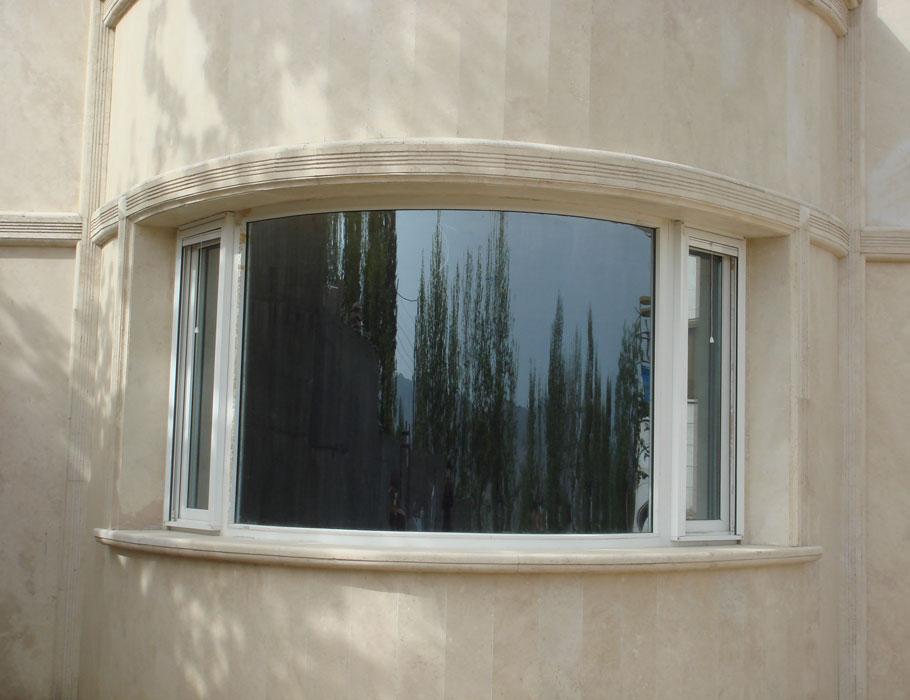 پنجره یو پی وی سی قوس دار