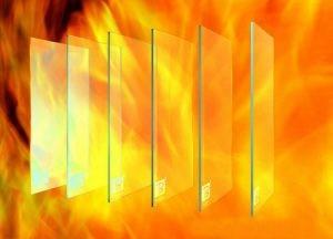 شیشه های دوجداره ضد حریق