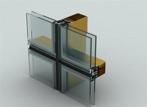 نمای شیشه کرتین وال
