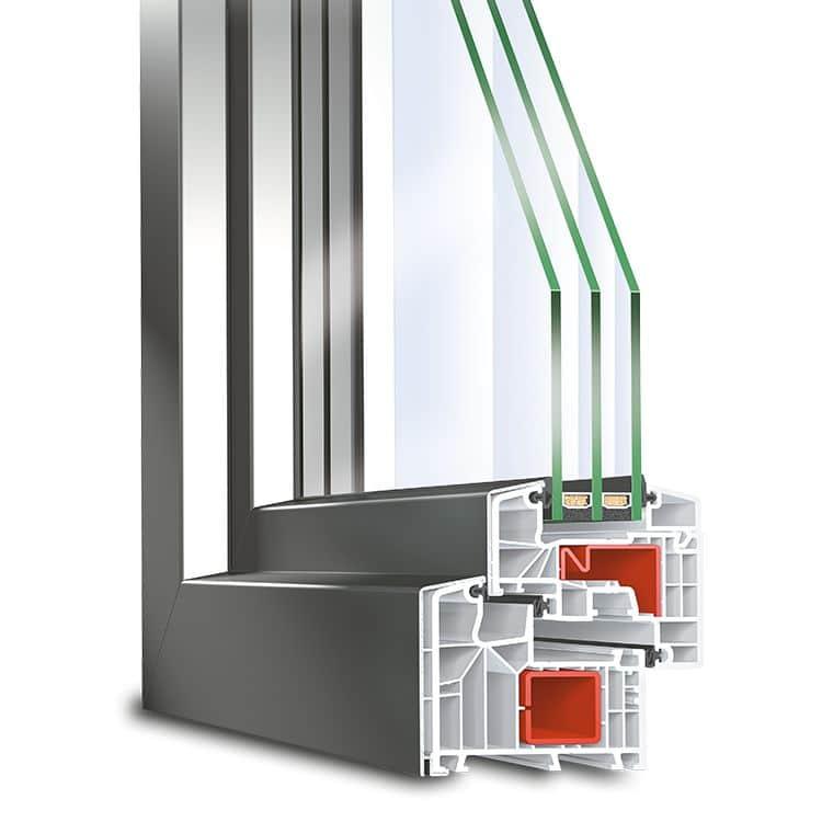 پنجره شبکه ای دو و سه جداره