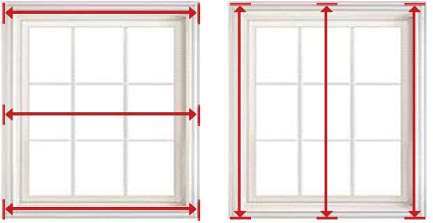 اندازه گیری حدودی عرض و ارتفاع درب و پنجره